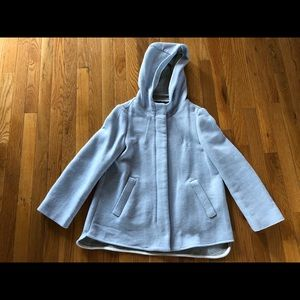 Zara basic wool coat with hood